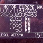 фото заводской наклейки автомобиля